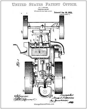 Case Tractor Patent DRawing