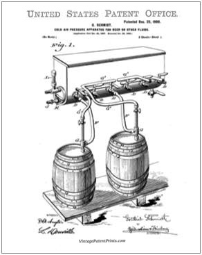 Beer Cooler PAtent Drawing
