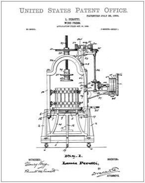 Wine Press Patent Drawing