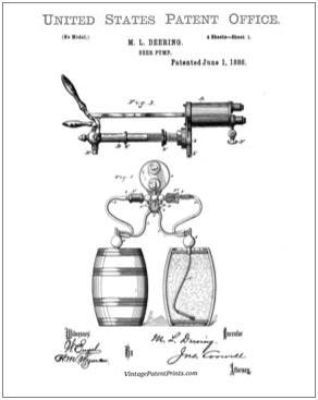 Beer Pump Patent Drawing