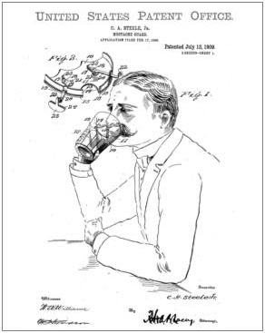 Mustache guard patent Drawing