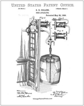 Beer Apparatus Patent Drawing