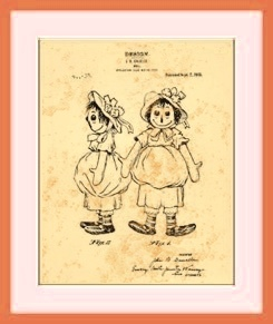 Raggedy Ann Doll Patent drawing