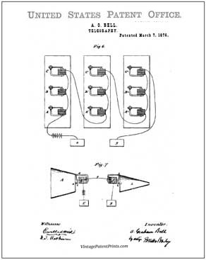 bell telephone patent drawing