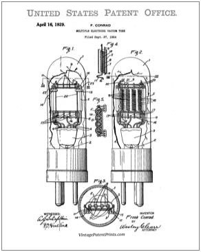 vacuum tube patent drawing