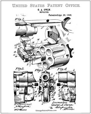 owen Revolver Patent Drawing