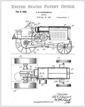 Oliver Tractor Patent