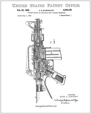 M16 Patent Drawing