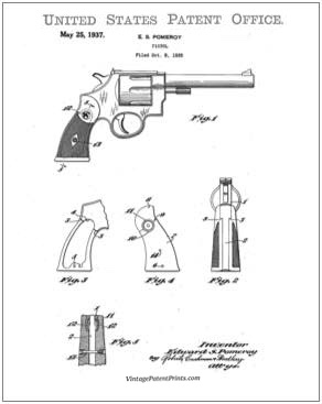 smith and Wesson revolver patent drawing