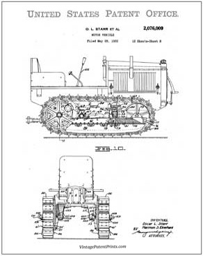 caterpillar patent Drawing
