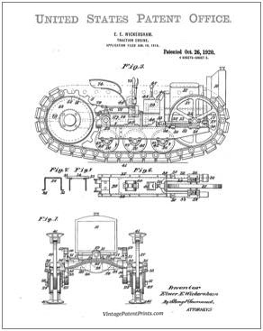 holt tractor patent image