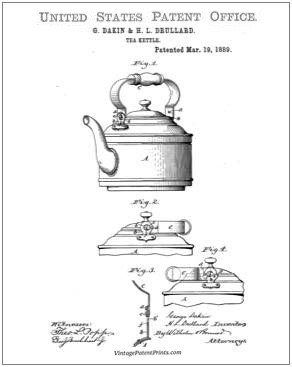 Tea Kettle Patent Drawing