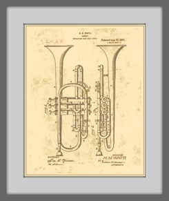 Brass Horn Patent Drawing