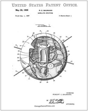 Baumann Satellite Structure Patent Drawing