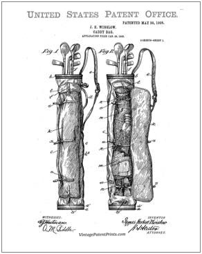 Winslow Caddy Bag Patent Drawing