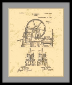 Traction Engine Patent Drawing