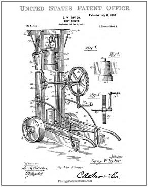 post driver patent drawing