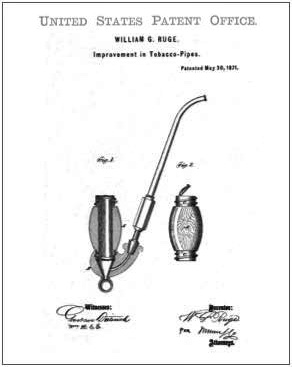 Rudge Tobacco Pipe Patent Drawing