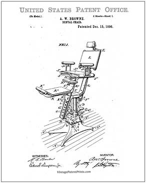 Dental Chair Patent Drawing
